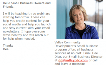 Small Business Newsletter, October 1, 2020